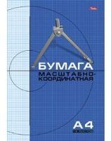 Бумага масштабно-координатная А4, скрепка, 16л, HATBER купить оптом и в розницу