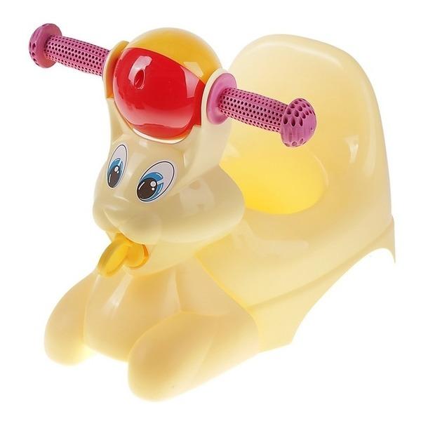 """Горшок-игрушка """"Зайчик"""" желтый пастельный *5 купить оптом и в розницу"""