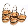 Корзины декоративные плетеные(5шт) 9*26*22см купить оптом и в розницу