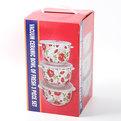 Набор салатников керамических 3шт с крышками ″Пионы″ ВН051 купить оптом и в розницу