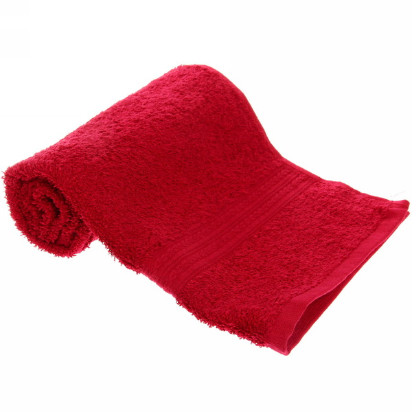 Махровое полотенце 40*70см бордовое ЭК70 Д01 купить оптом и в розницу