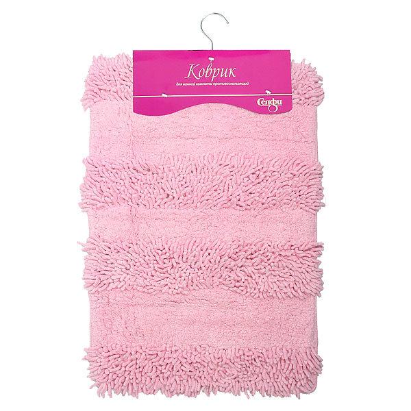 Коврик для ванны Селфи 40*60 100% хлопок E01 розовый купить оптом и в розницу