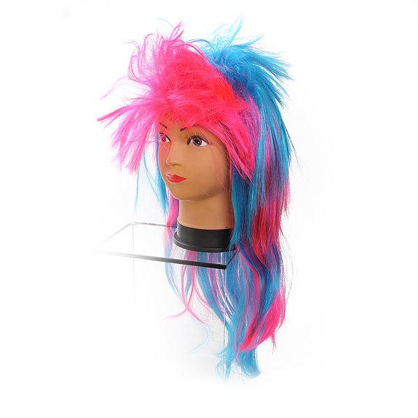 Парик карнавальный ″Модный стайл″ розово-голубой цв 999-3 купить оптом и в розницу