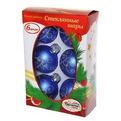 Новогодние шары ″Топаз серебристый″ 7см (набор 6шт.) купить оптом и в розницу