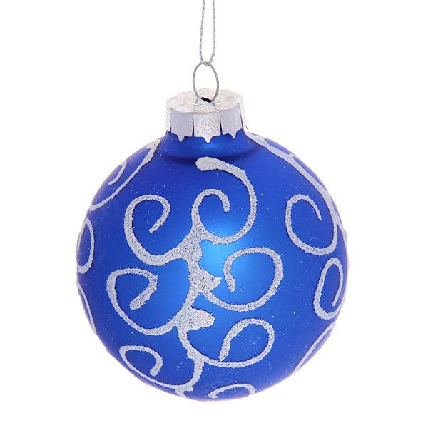 Новогодние шары ″Топаз.Завиток″ 7см (набор 6шт.) купить оптом и в розницу