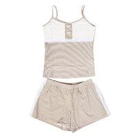 Пижама женская цвет молочный арт. 25 р-р 52 купить оптом и в розницу