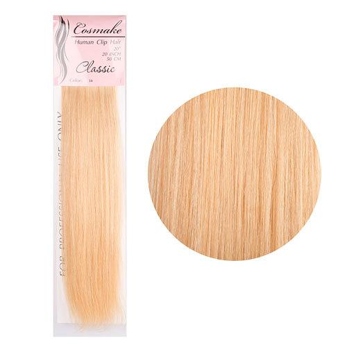 Волосы натуральные на заколках Classic 50см 100гр. тон № 016 купить оптом и в розницу