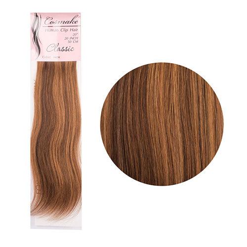 Волосы натуральные на заколках Classic 50см 100гр. тон № 030 купить оптом и в розницу