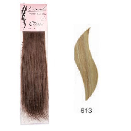 Волосы натуральные на заколках Classic 50см 100гр. тон № 613 купить оптом и в розницу