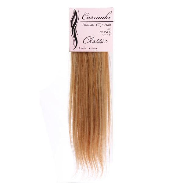 Волосы натуральные на заколках Classic 50см 100гр. тон № 613/Р27 купить оптом и в розницу