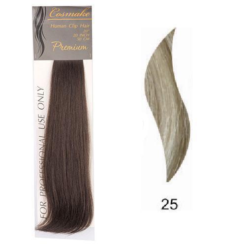 Волосы натуральные на заколках Premium 50см 100гр. тон № 025 купить оптом и в розницу