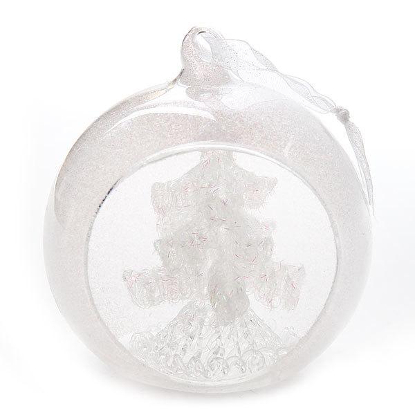 Ёлочная игрушка стеклянная 10см ″Елочка в шаре″″ купить оптом и в розницу