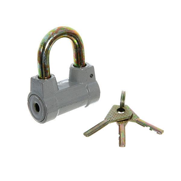 Замок навесной 54*70 мм, короткая душка, 3 ключа, серый купить оптом и в розницу
