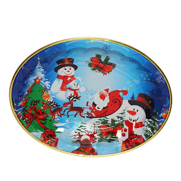 Поднос пластиковый ″Снеговики и Дед Мороз″ 36*28см купить оптом и в розницу