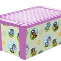 """Детский ящик для хранения игрушек """"X-BOX"""" Bears 17л лавандовый*12 купить оптом и в розницу"""