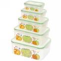 Набор контейнеров 5шт ″Фрукты″ (0,2л.0,4л.0,6л,1л.1,5л) 2136-5 купить оптом и в розницу