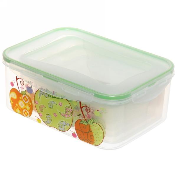 Набор контейнеров 5шт ″Фрукты″ (0,2л.0,4л.0,6л,1л.1,5л) прямоугольный купить оптом и в розницу