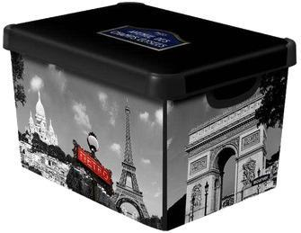 Коробка декоративная STOCKHOLM M PARIS /*10 шт (29,5х19,5х13,5)см Curver купить оптом и в розницу