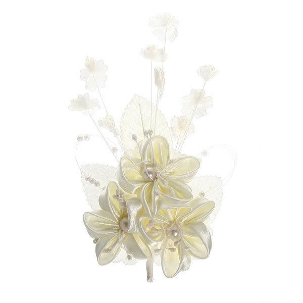 Свадебная бутоньерка, 3 цветка купить оптом и в розницу