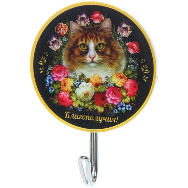 Крючок 5 см ″Благополучия!″, Жостовская кошка купить оптом и в розницу