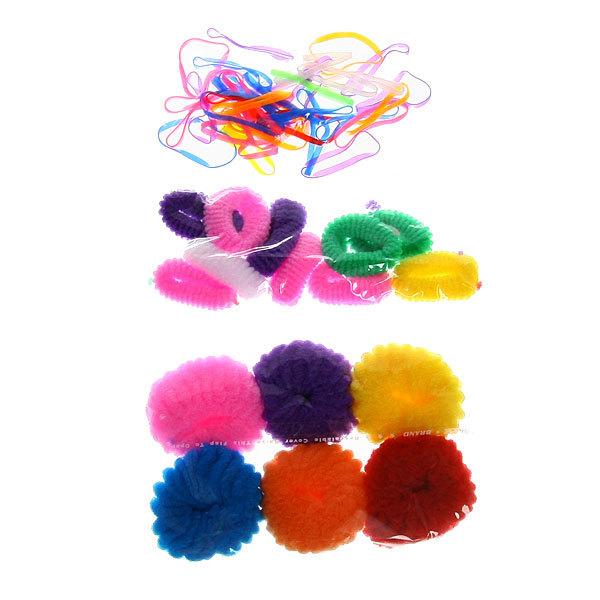 Резинки для волос 50шт ″Мохра″, цвет микс купить оптом и в розницу