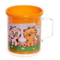 Термокружка 400 мл ″Любимые животные″ оранжевая С525ОРЖ купить оптом и в розницу