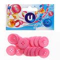 Пуговицы в наборе 18шт Круг розовый купить оптом и в розницу