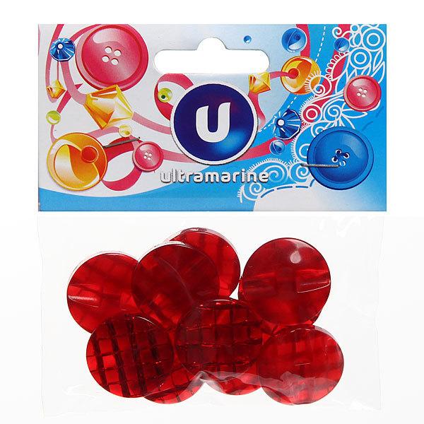 Пуговицы в наборе 10шт Красный перламутр купить оптом и в розницу