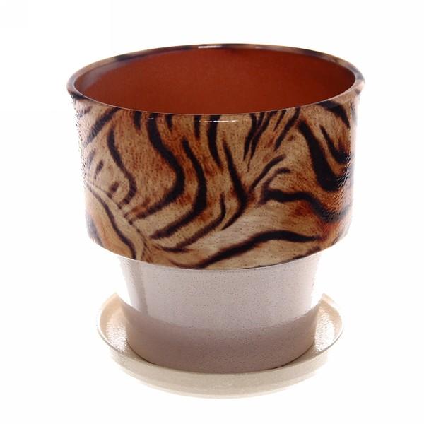 Горшок для цветов керамический 2,7л 94-63н, ангоб купить оптом и в розницу