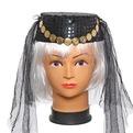 Шляпа карнавальная ″Восточная красавица″ красная 1624-222 купить оптом и в розницу