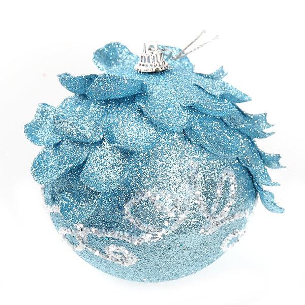 Новогодний шар ″Морозная шишечка″ 10см купить оптом и в розницу