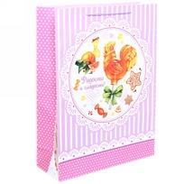 Пакет подарочный 32х43 см вертикальный ″Радости и сладости!″, Сладкий петушок купить оптом и в розницу