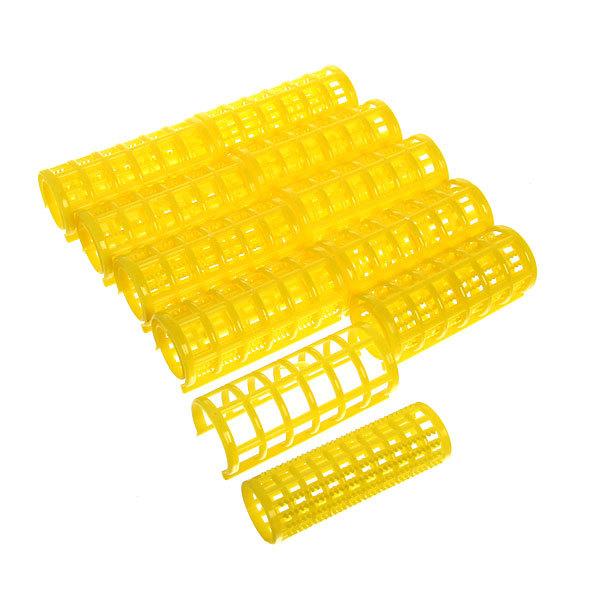 Бигуди пластмассовые с зажимом 10шт, цвет микс, d=25мм купить оптом и в розницу