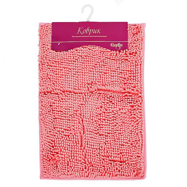 Коврик для ванны Селфи 40*60 h 2.5см букли розовый купить оптом и в розницу
