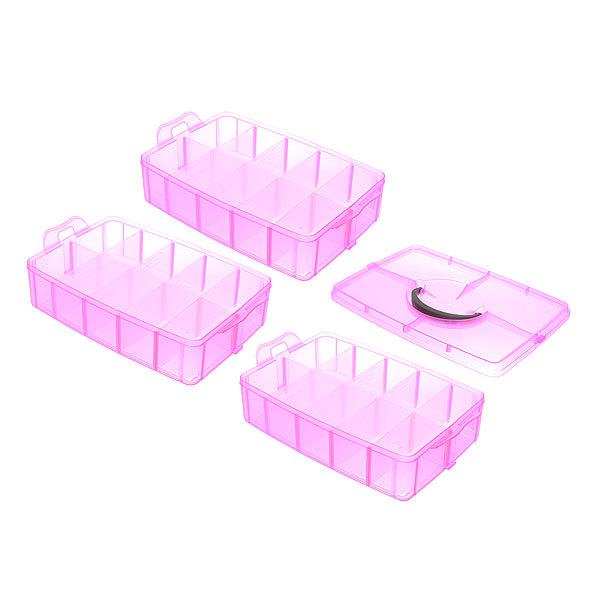 Контейнер для мелочей три яруса 25х17х19 348-3 купить оптом и в розницу