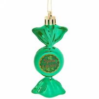 Ёлочная игрушка-конфетка ″Удачи в делах!″ (зел) купить оптом и в розницу