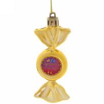 Ёлочная игрушка-конфетка ″Здоровья и счастья!″ (зол) купить оптом и в розницу