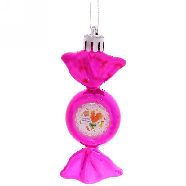 Ёлочная игрушка-конфетка ″Сладкого Нового года!″, Сладкий петушок (роз) купить оптом и в розницу