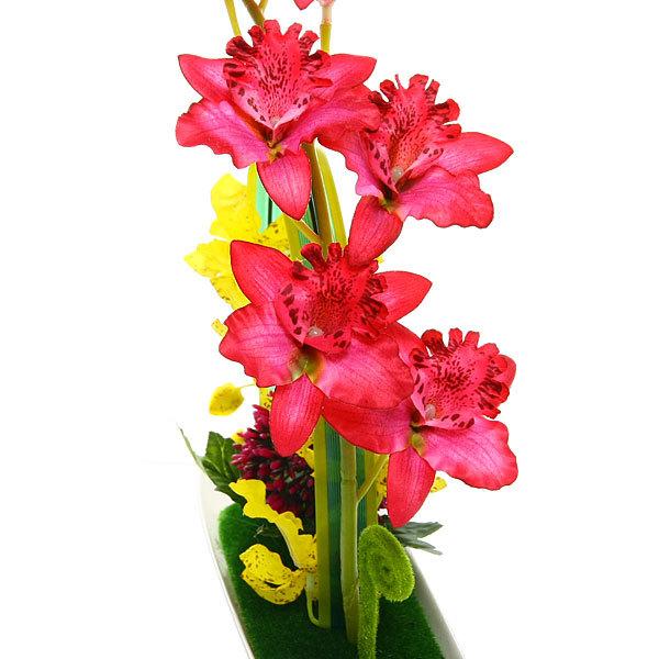 Цветы искусственные в тарелке ″Орхидея″ в подарочной коробке CL купить оптом и в розницу