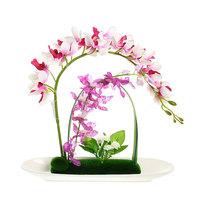 Цветы искусственные в тарелке ″Орхидея″ в подарочной коробке XXL купить оптом и в розницу