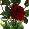 Цветы искусственные в тарелке ″Розы″ 3шт в подарочной коробке MG-5 купить оптом и в розницу
