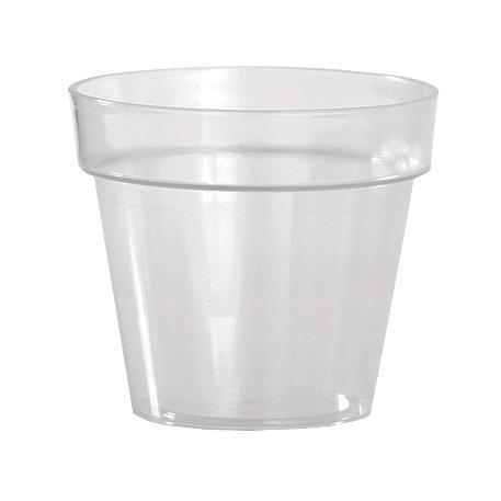 Кашпо Ибица прозрачное  фиолет 18 2,5 л*10  Form plastic купить оптом и в розницу