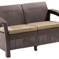 Диван  двухместный (искусственный ротанг)Corfu love seat. 128х70х79 см коричневый купить оптом и в розницу