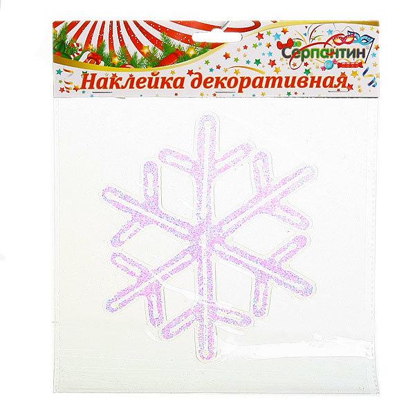 Наклейка на стекло 16см Снежинка 2014B-111R купить оптом и в розницу