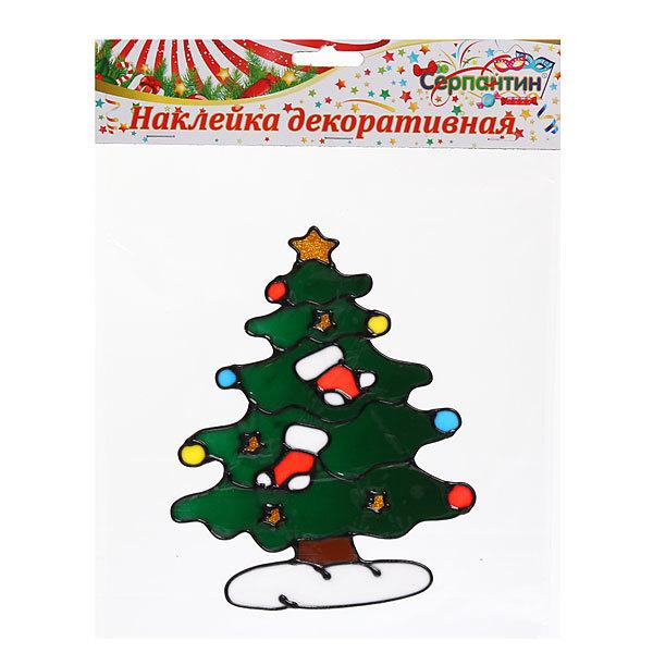 Наклейка на стекло 20*15см Елочка Новогодняя 2014С-214R купить оптом и в розницу