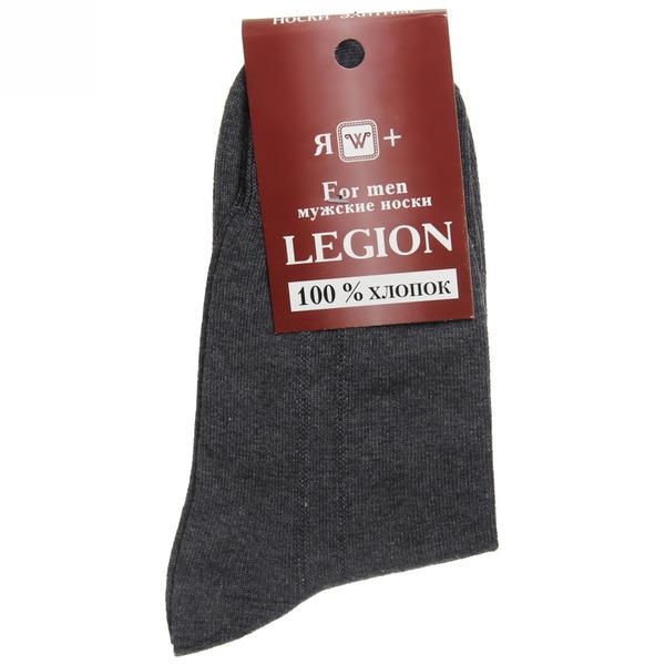 Носки мужские LEGION (хлопок - 100%), темно-серый, р. 27 купить оптом и в розницу