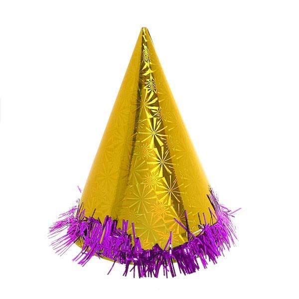Колпак карнавальный ″Голограмма″ с мишурой 001 20см купить оптом и в розницу