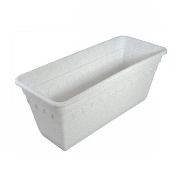 Ящик для растений Колывань 40см с поддоном балконный мрамор С183М купить оптом и в розницу