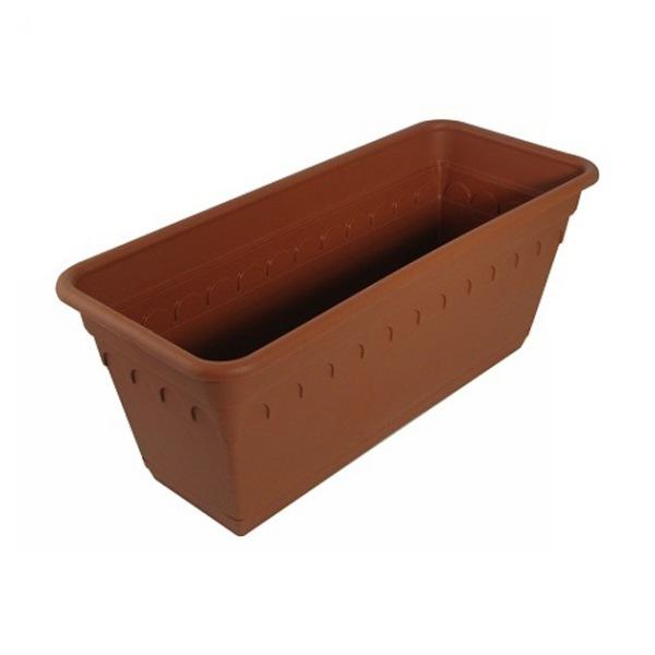 Ящик для растений Колывань 40см с поддоном балконный терракотовый С183Т купить оптом и в розницу
