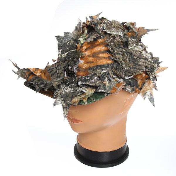 Кепка маскирующая, принт листья купить оптом и в розницу